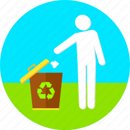 dustbin, ecology, environment, garbage, non pollution, recycle bin, trash icon