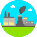 ecology, environment, factory, flue, industrial, industry, pollution icon