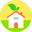 eco house, ecology, environment, home, nature, non polluted environment, property icon