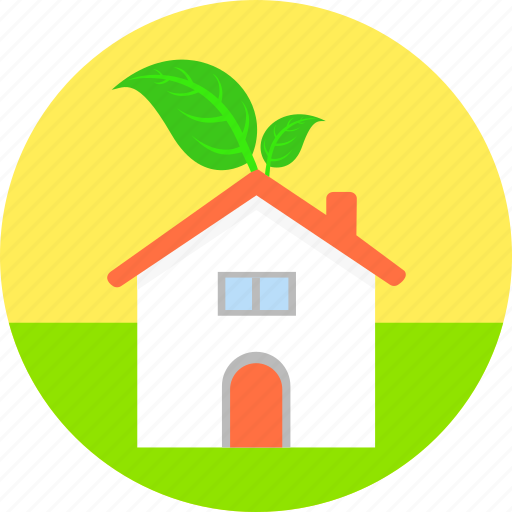Home, eco house, ecology, environment, nature, non polluted environment, property icon - Download on Iconfinder