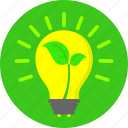 creative, ecology, environment, idea, lamp, light, nature protect icon