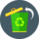 bio, eco, ecology, environment, garbage, recycle bin, trash icon