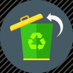bio, eco, ecology, environment, garbage, recycle bin, trash icon
