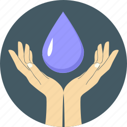 drop, eco water, ecology, environment, guardar, hands, save, water icon