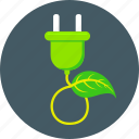 bio energy, eco, ecology, electricity, plug, power, switch icon