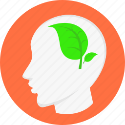 brainstorm, eco, ecology, environment, head, healthy, thinking icon