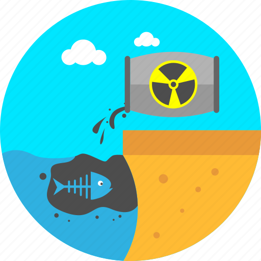 contaminated, dirty water, ecology, environment, polluted water, pollution, waste in sea icon