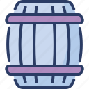 barrel, beer, brewery, hogshead, keg, pirates, wooden icon