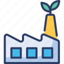 eco, ecology, factory, green, industry, plants, power icon