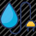 eco, ecology, green, industry, power, powerplug, water energy icon