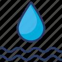 drop, ecology, liquid, nature, rain, water, wave icon