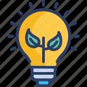 bulb, electronics, energy, green, light, lightbulb, renewable icon
