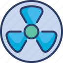 atomic, danger, nuclear, radiation, radioactive, radioactivity icon