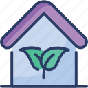 eco, ecology, environment, green, home, house, leaf icon