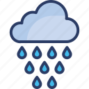 climate, cloud, heavy, rain, report, summer, weather icon