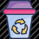 arrows, bin, delete, ecology, recycle, seo, trash icon