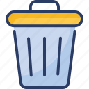 can, delete, editorial, garbage, recycle, remove, trash