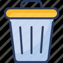 can, delete, editorial, garbage, recycle, remove, trash icon