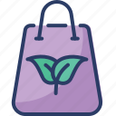 bag, dip, green, organic, paper bag, recycle bag, reusable icon
