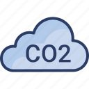 co2, ecology, global, green, pollution, warming icon