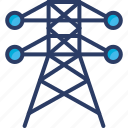 derrick, electricity, energy, industry, power, pylon, tower icon