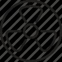 danger, atomic, radioactivity, nuclear, radiation, radioactive icon