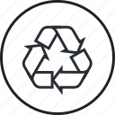 ecology, environment, line, recycling icon