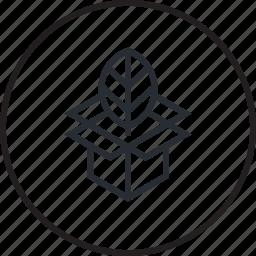 ecology, environment, green, line, program icon