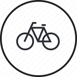 bicycle, environment, line, recreation, sport, sustainable, transport icon