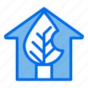 green, house, leaf, ecology