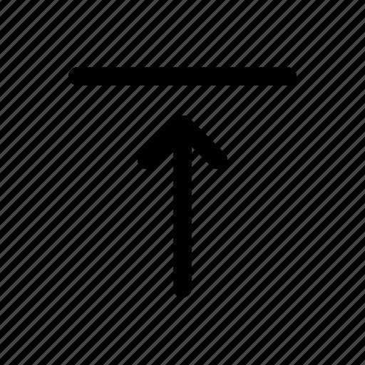 arrow, eco, height, nature icon