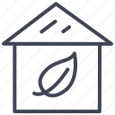 building, ecology, estate, green, home, house icon