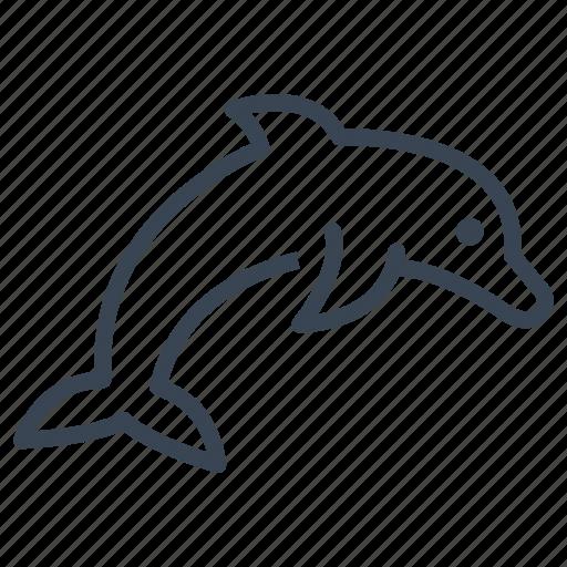 animal, dolphin, ecology, ocean, sea icon