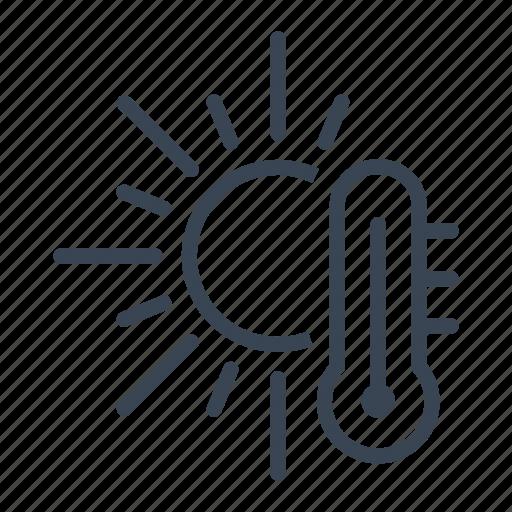 global, heatwave, hot, sun, warming icon