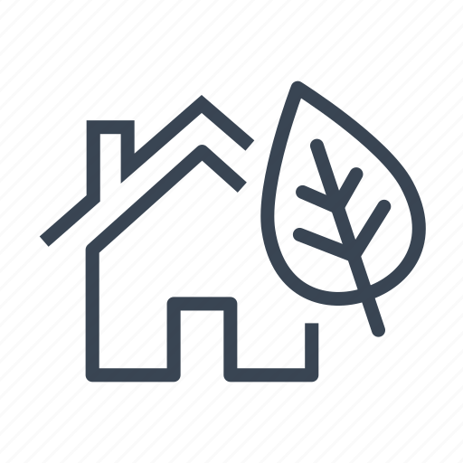 eco, ecological, ecology, home, house icon