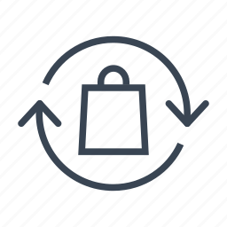bag, ecology, recycle, recycling icon
