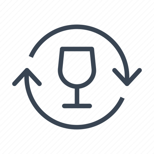 ecology, glass, recycle, recycling icon