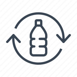 bottle, ecology, plastic, recycle, recycling icon