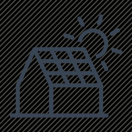 ecology, energy, house, panel, solar, sun icon