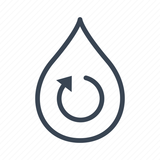 ecology, recycle, recycling, water icon