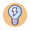 electric, electrical, electrical energy, energy, light bulb icon