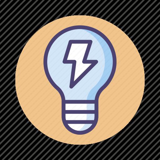electric, electrical, electrical energy, energy, light bulb icon