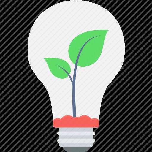 battery, energy, nature, plant, power, saving icon