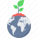 bio, earth, global, planet, plant, save icon