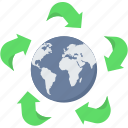 bio, earth, global, green, planet, plant icon