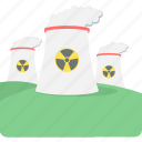 eco, ecology, environment, factory, mill, nuclear, plant icon