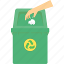 bin, dustbin, environment, recycle, save, trash, waste icon