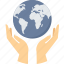 earth, global, globe, guardar, hand gesture, planet, save, world icon