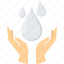 collect, environment, save, water, water drop icon