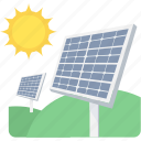 energy, solar, eco, panel, sun icon